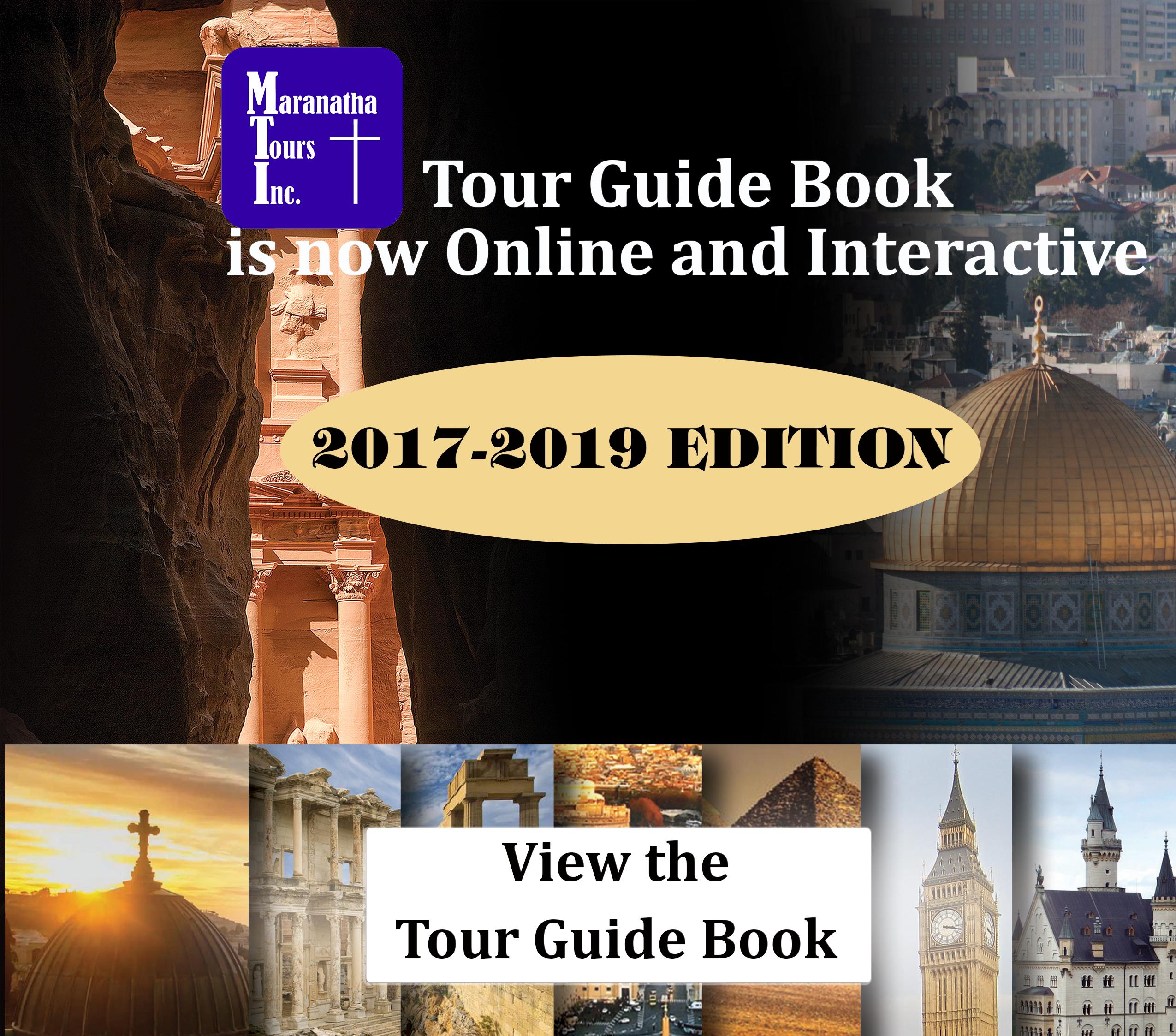 Maranatha Tours Travel Guide 2017-2019 Book | Maranatha Tours
