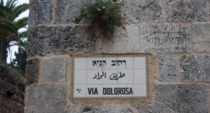 Walking Jesus' Footsteps Via Dolorosa Old City Jerusalem